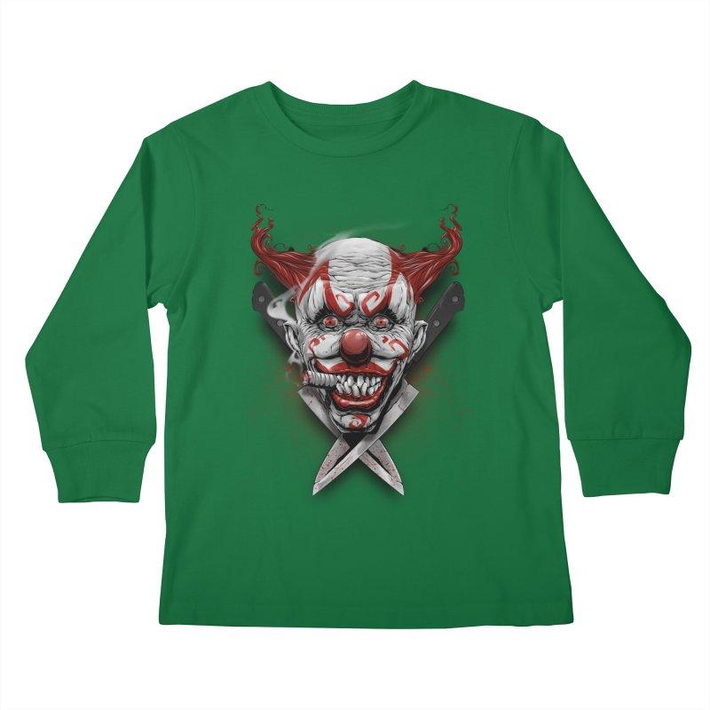 angry clown Kids Longsleeve T-Shirt by fishark's Artist Shop