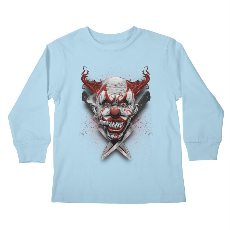 angry clown Kids Longsleeve T-Shirt by fishark's Artist Shop