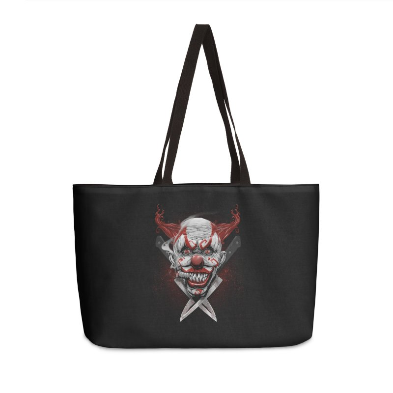 angry clown Accessories Weekender Bag Bag by fishark's Artist Shop