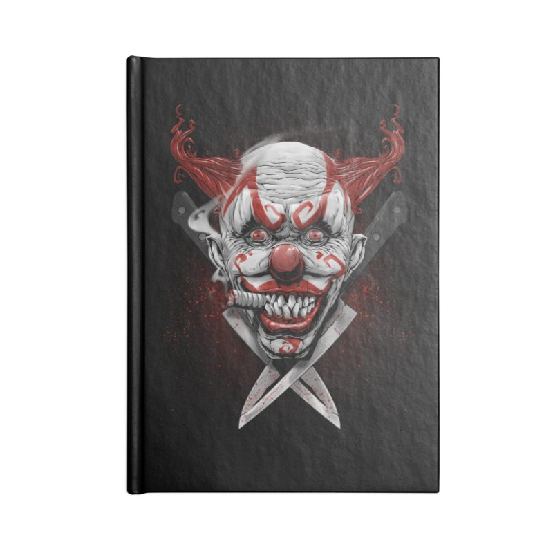 angry clown Accessories Blank Journal Notebook by fishark's Artist Shop
