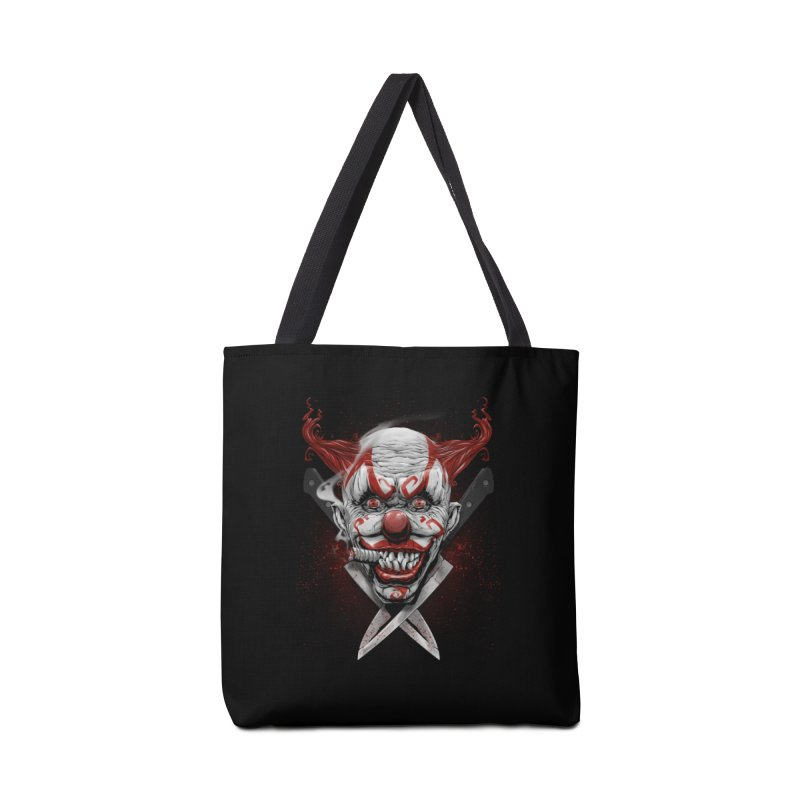 angry clown Accessories Tote Bag Bag by fishark's Artist Shop
