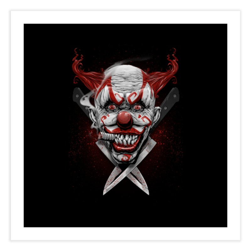 angry clown Home Fine Art Print by fishark's Artist Shop