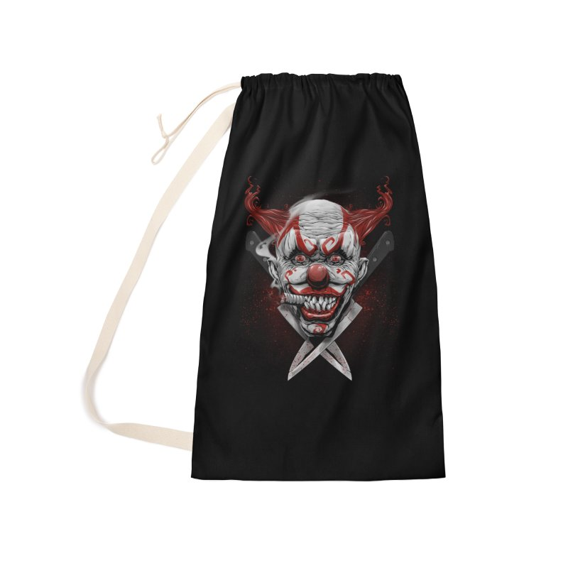angry clown Accessories Laundry Bag Bag by fishark's Artist Shop