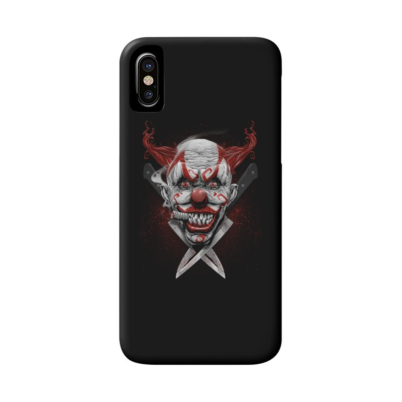 angry clown Accessories Phone Case by fishark's Artist Shop