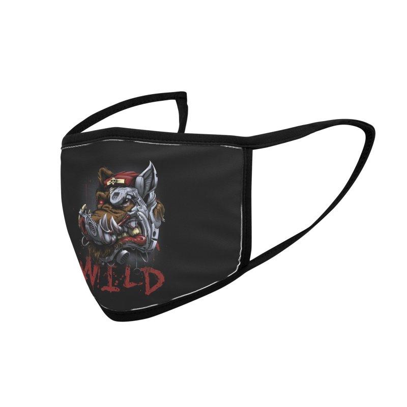 wild boar Accessories Face Mask by fishark's Artist Shop