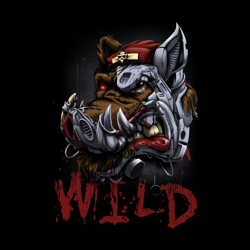 wild boar Accessories Bag by fishark's Artist Shop