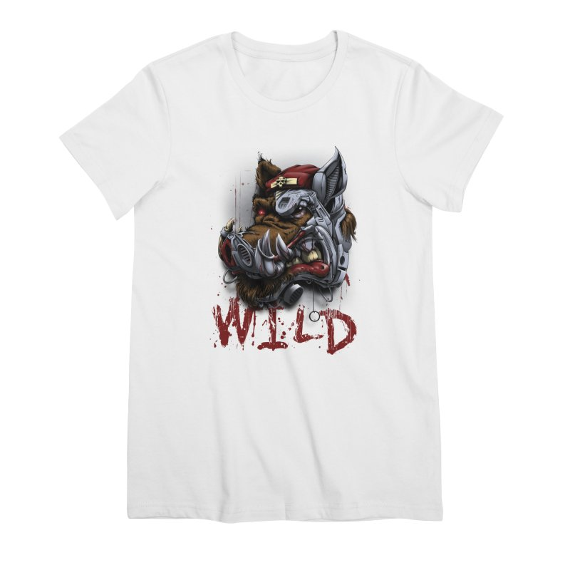 wild boar Women's Premium T-Shirt by fishark's Artist Shop