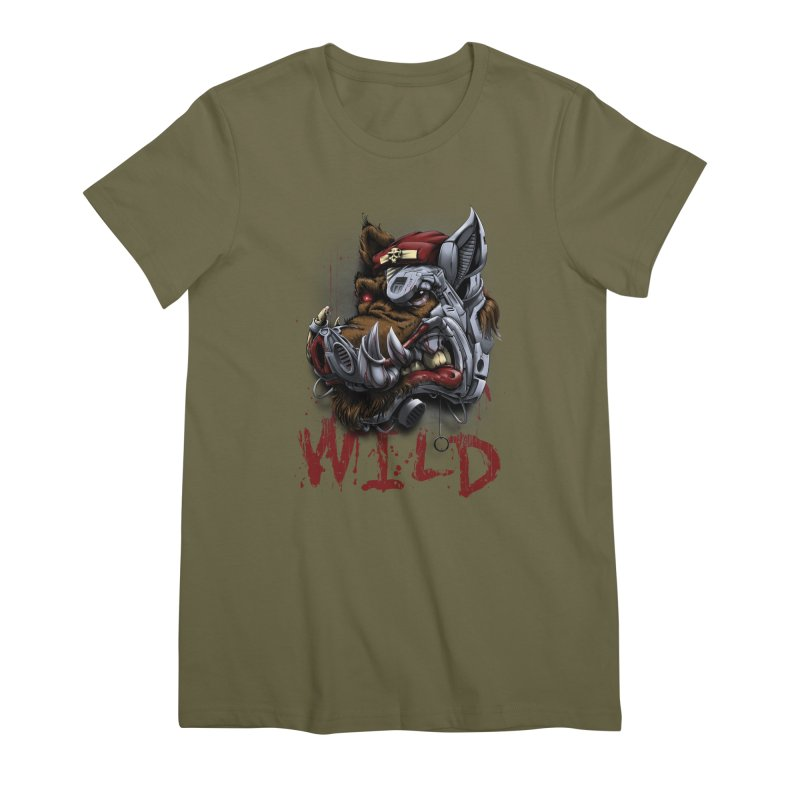 wild boar Women's Premium T-Shirt by fishark's Artist Shop