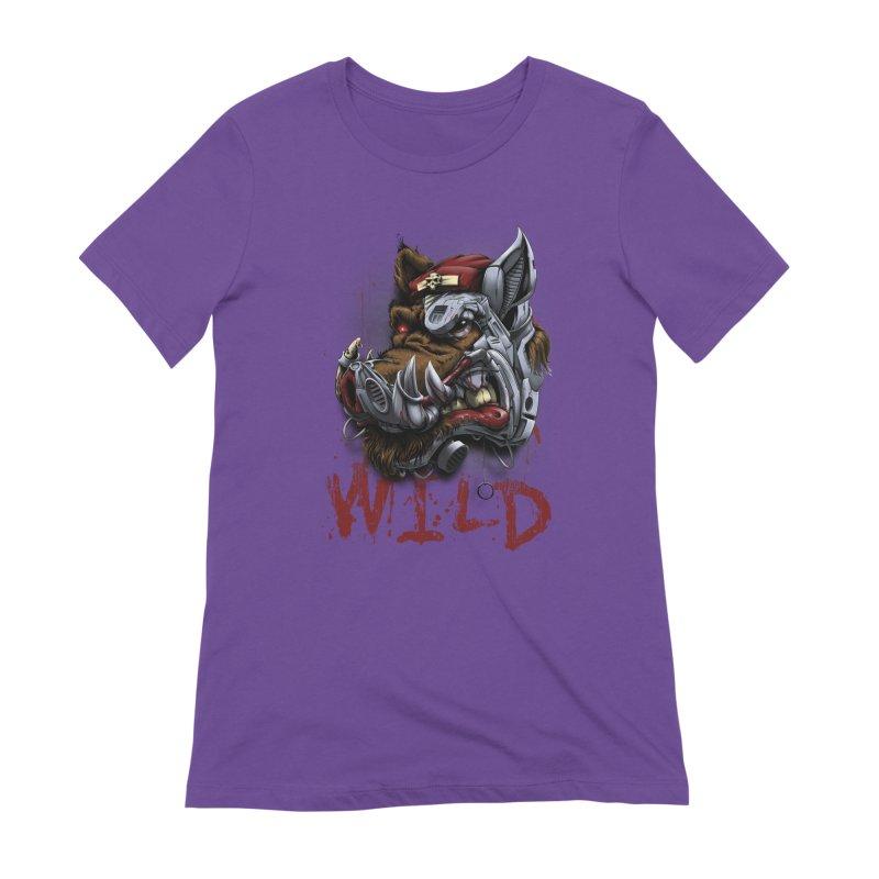 wild boar Women's Extra Soft T-Shirt by fishark's Artist Shop