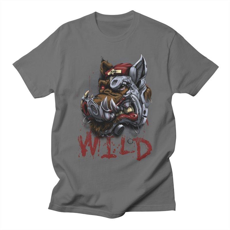 wild boar Men's T-Shirt by fishark's Artist Shop
