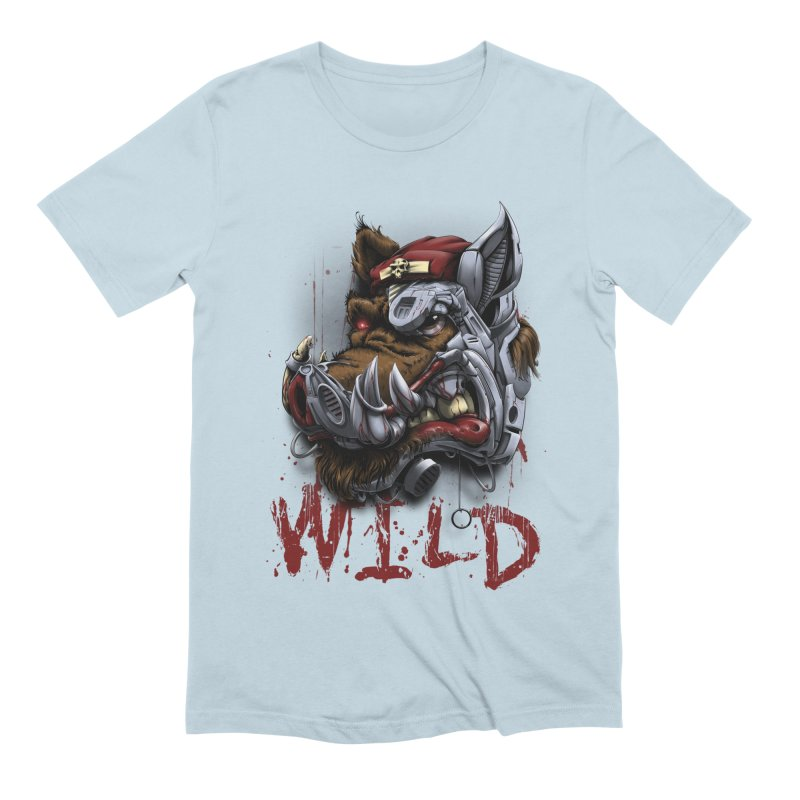 wild boar Men's Extra Soft T-Shirt by fishark's Artist Shop