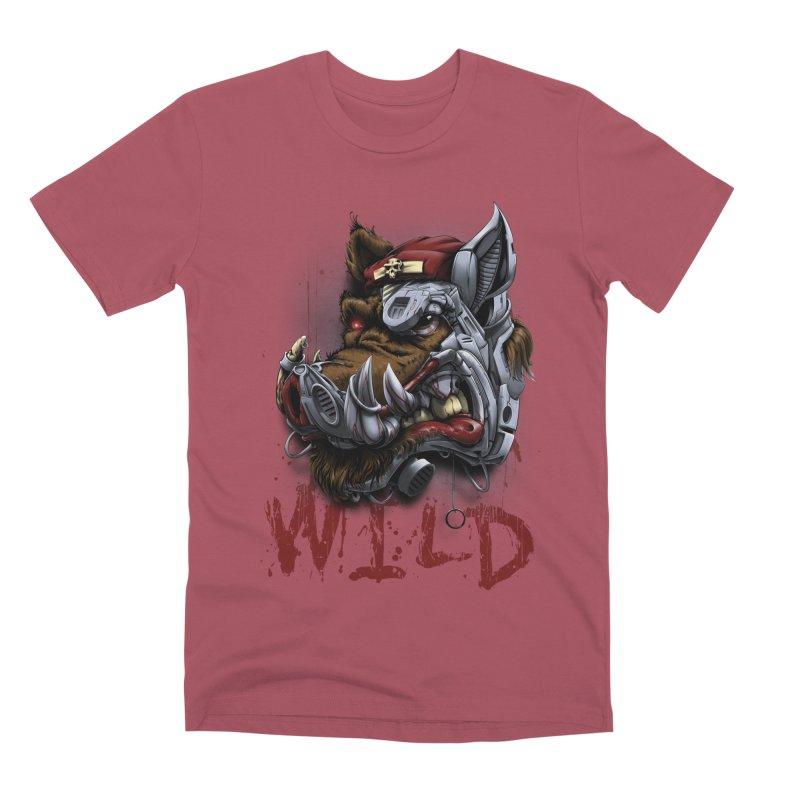 wild boar Men's Premium T-Shirt by fishark's Artist Shop