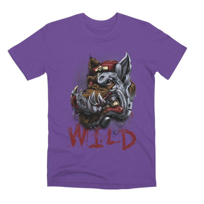 wild boar Men's Premium T-Shirt by fishark's Artist Shop
