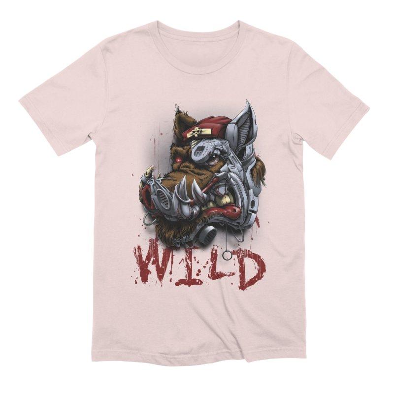 wild boar Men's Extra Soft T-Shirt by fishark's Artist Shop
