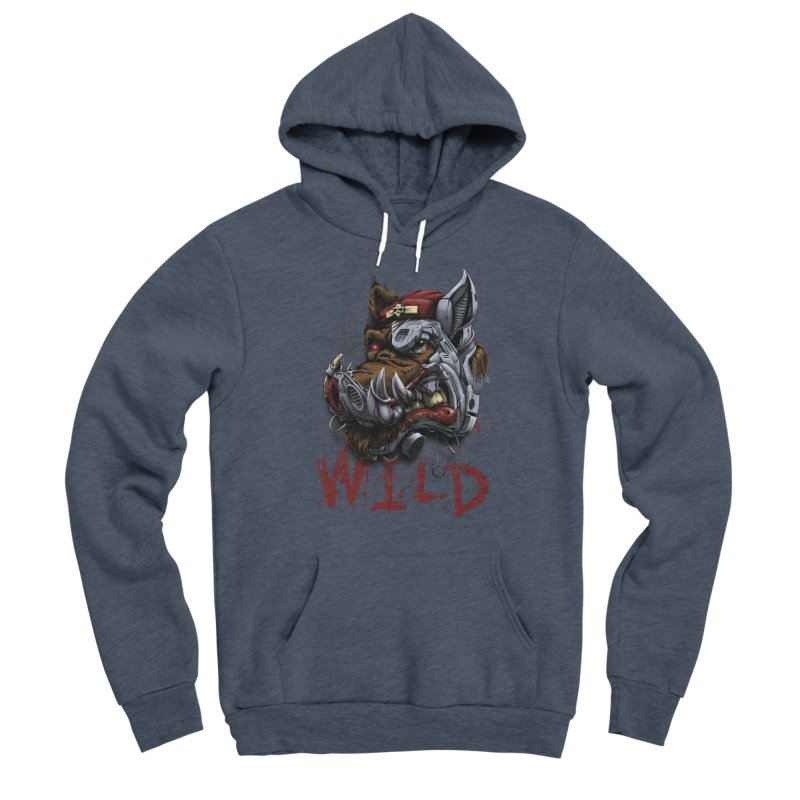 wild boar Men's Sponge Fleece Pullover Hoody by fishark's Artist Shop