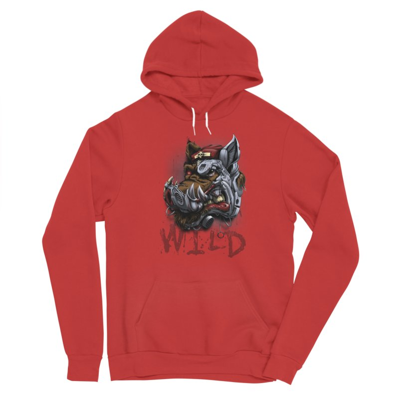 wild boar Women's Pullover Hoody by fishark's Artist Shop