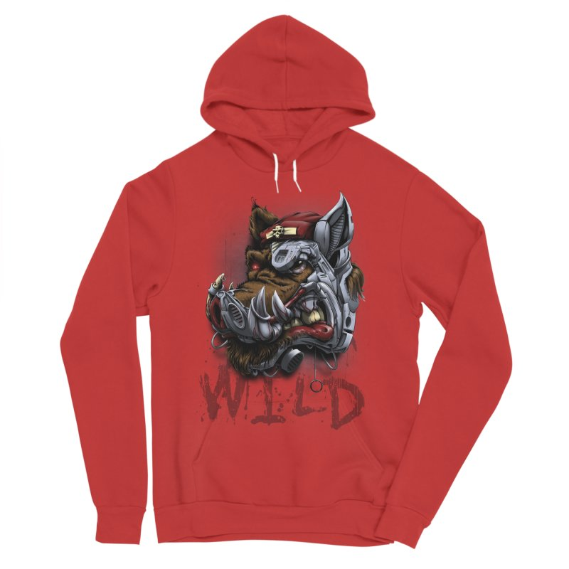 wild boar Women's Sponge Fleece Pullover Hoody by fishark's Artist Shop