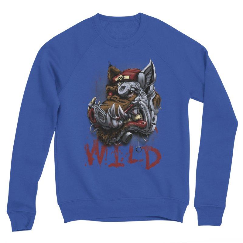 wild boar Men's Sponge Fleece Sweatshirt by fishark's Artist Shop