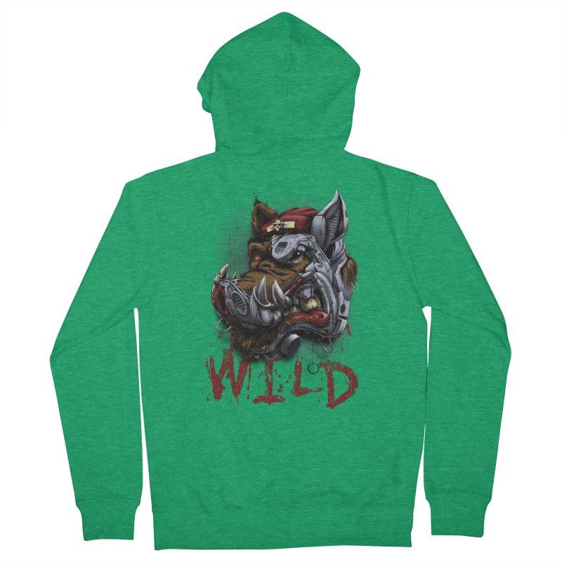 wild boar Women's Zip-Up Hoody by fishark's Artist Shop