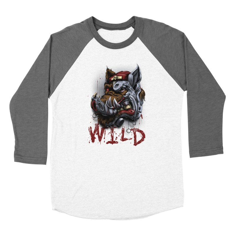 wild boar Women's Longsleeve T-Shirt by fishark's Artist Shop