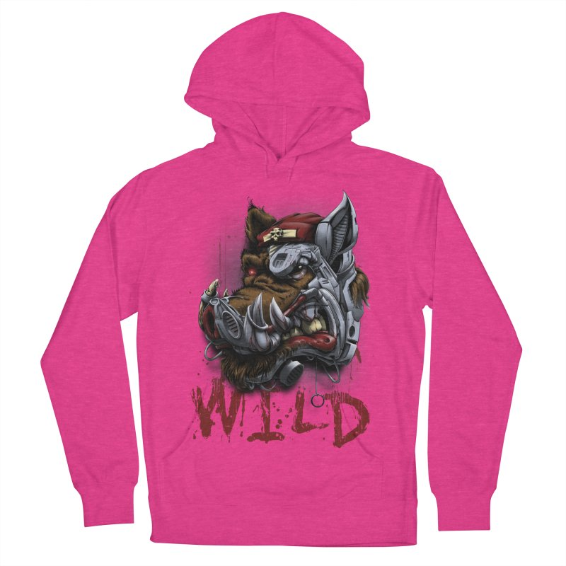 wild boar Women's French Terry Pullover Hoody by fishark's Artist Shop