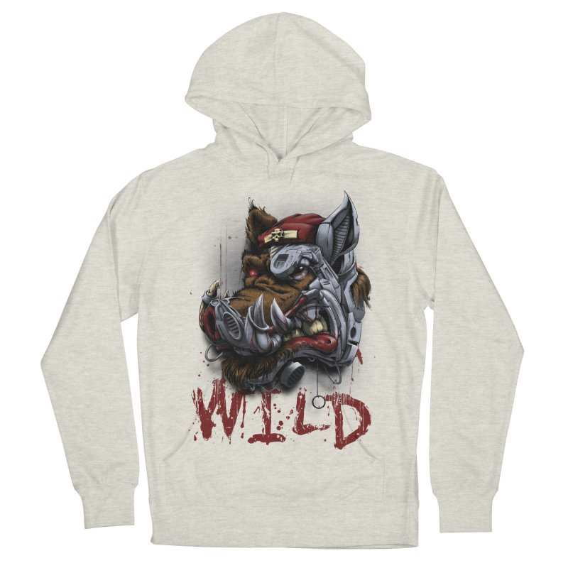 wild boar Men's French Terry Pullover Hoody by fishark's Artist Shop