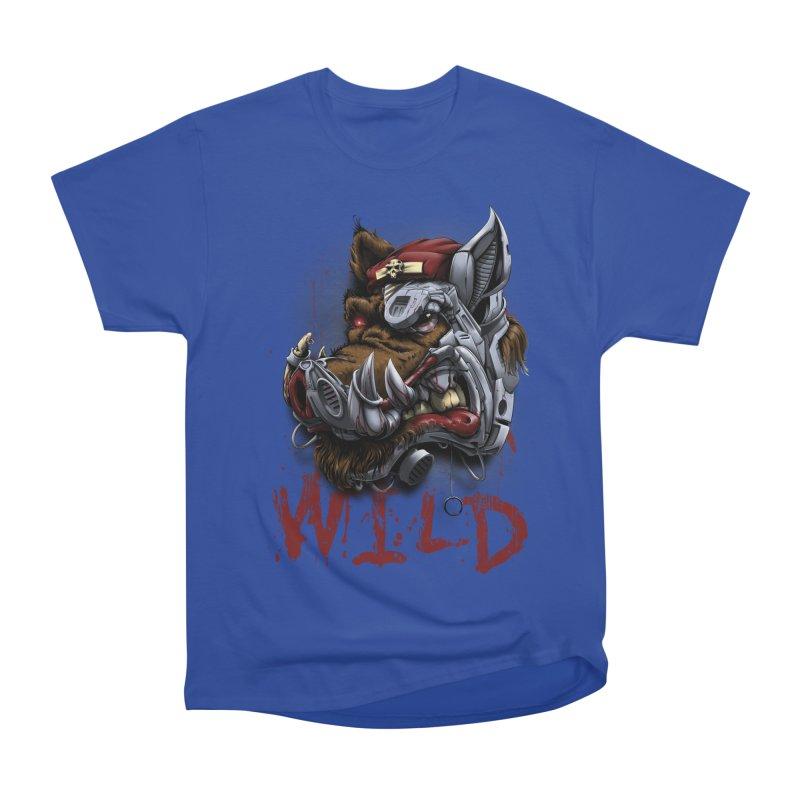 wild boar Women's Heavyweight Unisex T-Shirt by fishark's Artist Shop