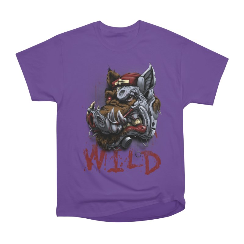 wild boar Women's Heavyweight Unisex T-Shirt by fishark's Artist Shop