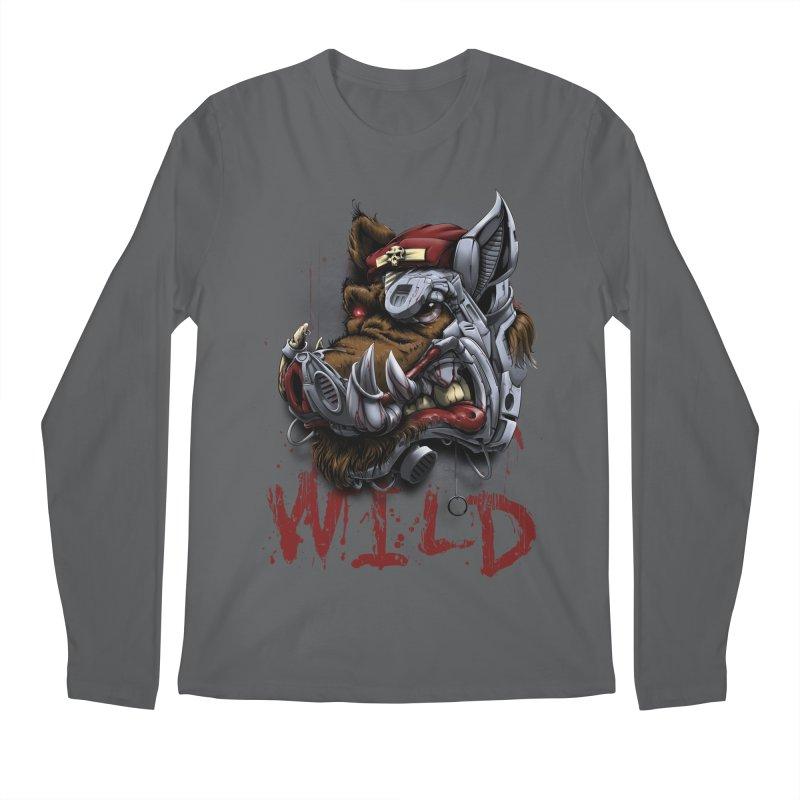 wild boar Men's Regular Longsleeve T-Shirt by fishark's Artist Shop