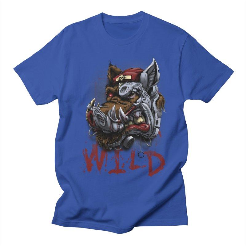 wild boar Men's Regular T-Shirt by fishark's Artist Shop