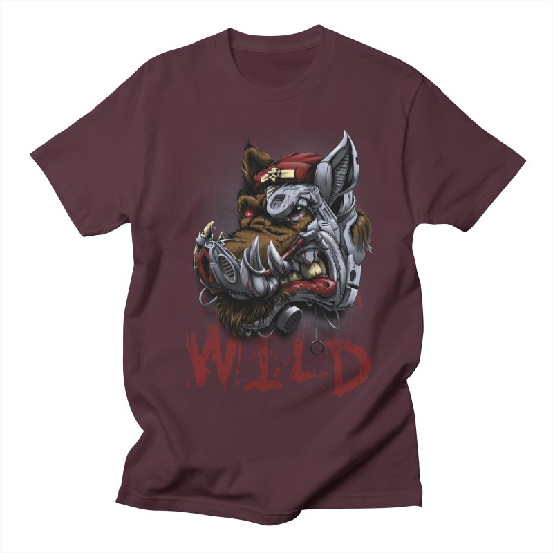 wild boar Women's Regular Unisex T-Shirt by fishark's Artist Shop