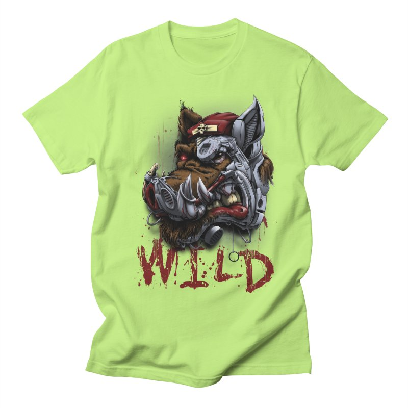 wild boar Men's Regular T-Shirt by fishark's Artist Shop