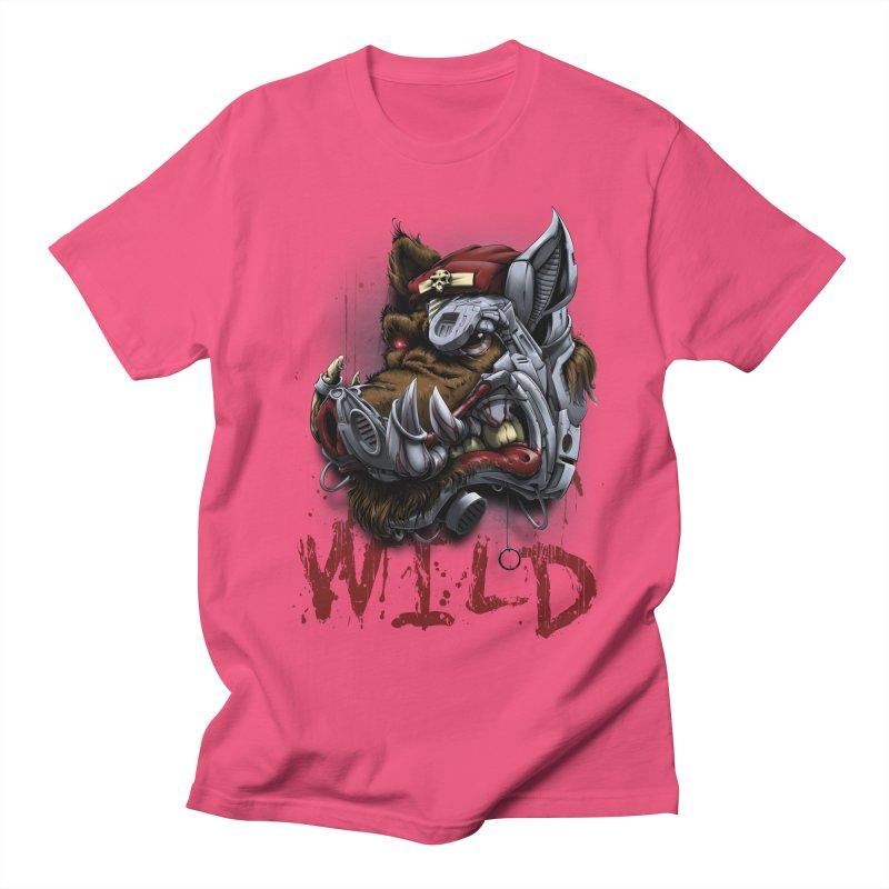 wild boar Women's Regular Unisex T-Shirt by fishark's Artist Shop