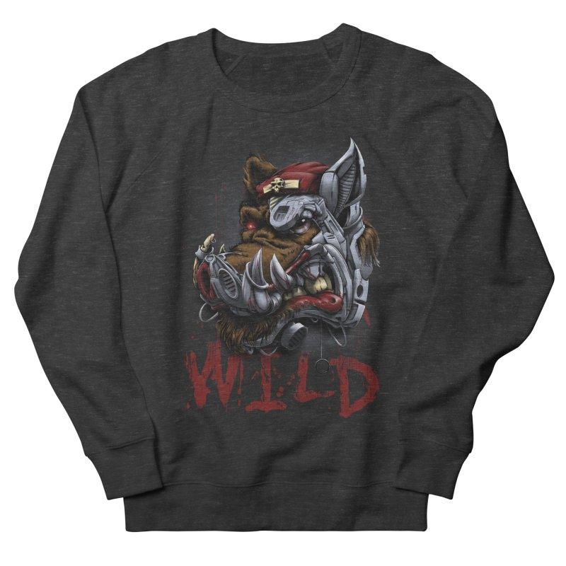 wild boar Women's French Terry Sweatshirt by fishark's Artist Shop