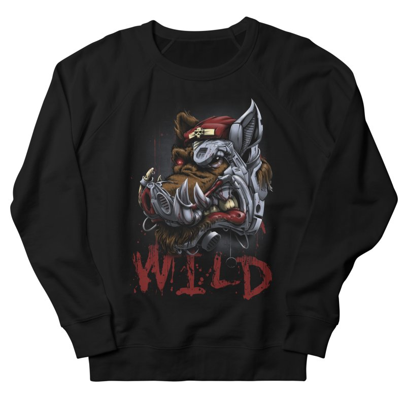 wild boar Women's French Terry Sweatshirt by fishark's Artist Shop