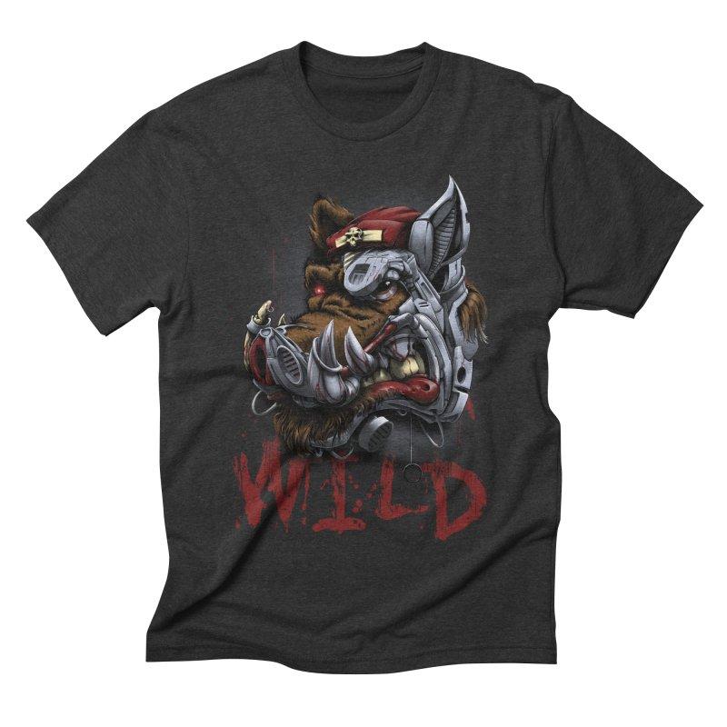 wild boar Men's Triblend T-Shirt by fishark's Artist Shop