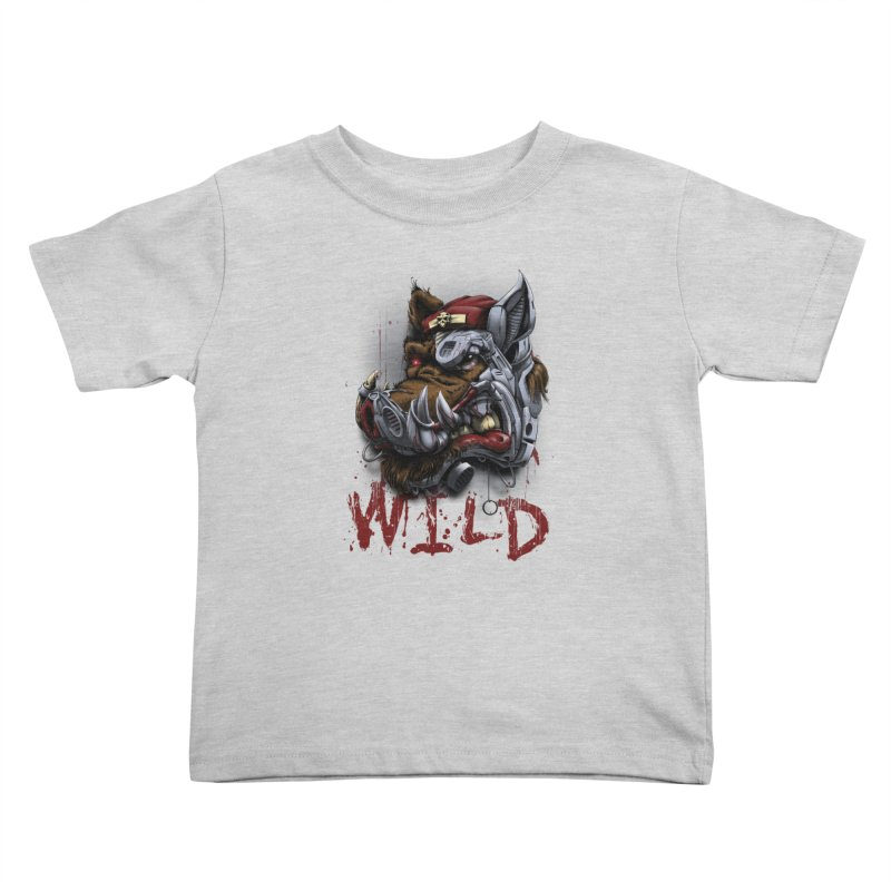 wild boar Kids Toddler T-Shirt by fishark's Artist Shop