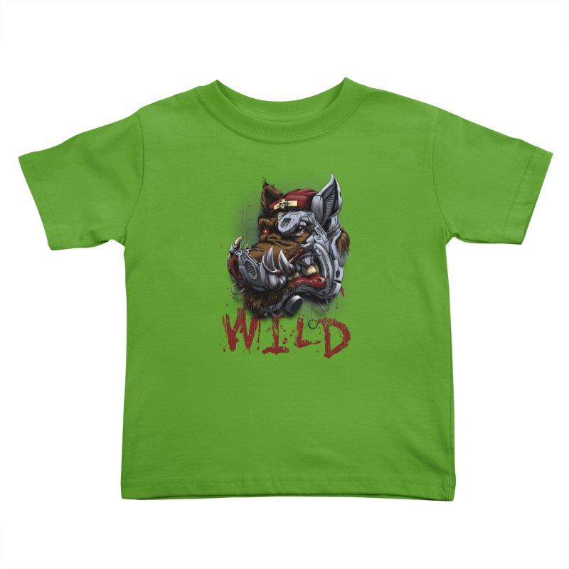 wild boar Kids Toddler T-Shirt by fishark's Artist Shop