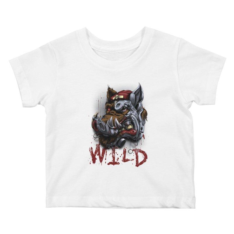 wild boar Kids Baby T-Shirt by fishark's Artist Shop