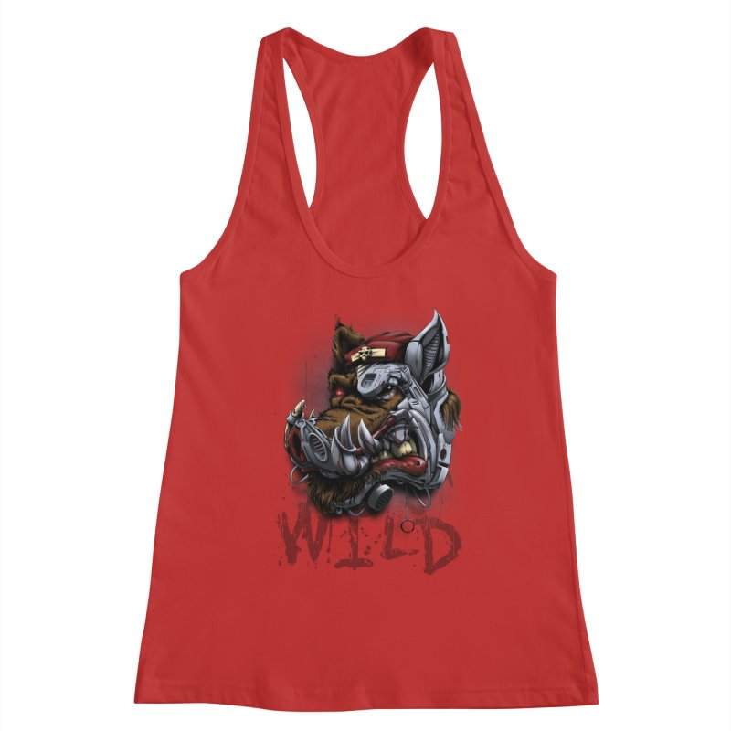 wild boar Women's Tank by fishark's Artist Shop