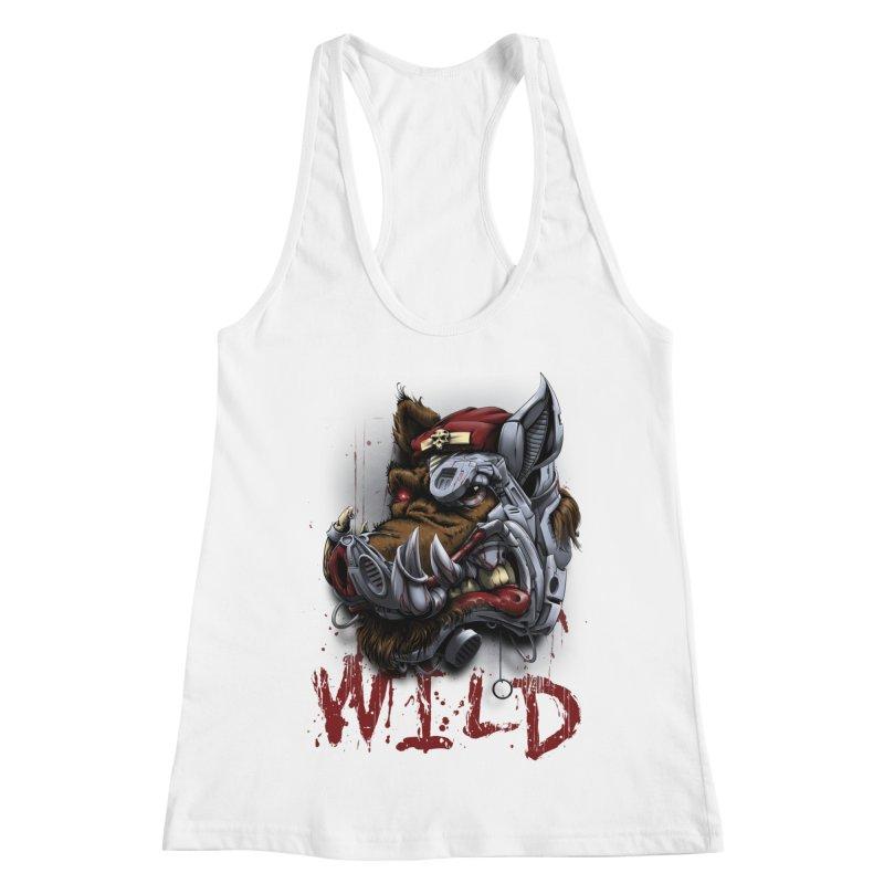 wild boar Women's Tank by fishark's Artist Shop