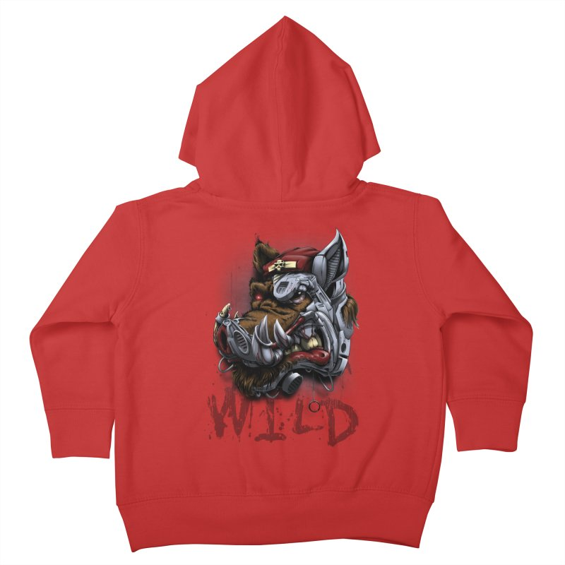wild boar Kids Toddler Zip-Up Hoody by fishark's Artist Shop