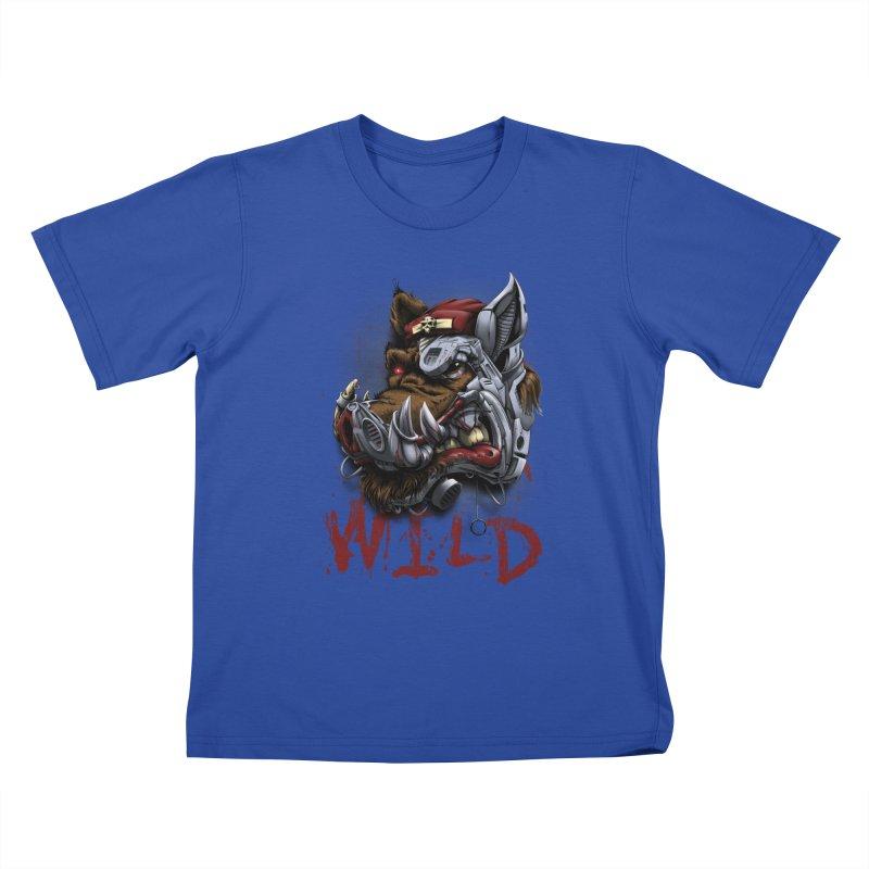 wild boar Kids T-Shirt by fishark's Artist Shop