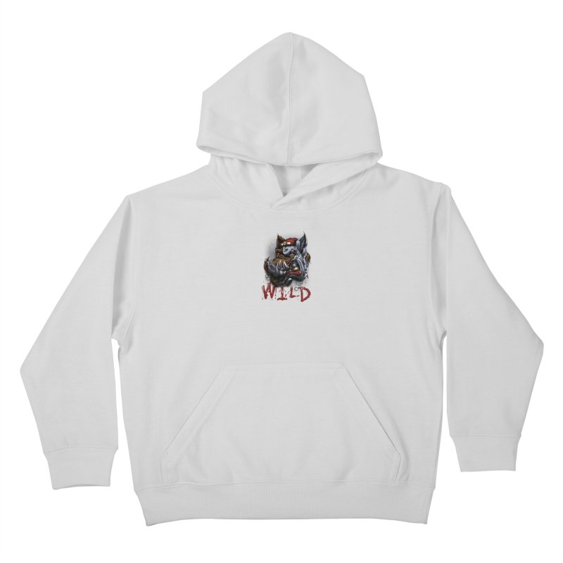 wild boar Kids Pullover Hoody by fishark's Artist Shop