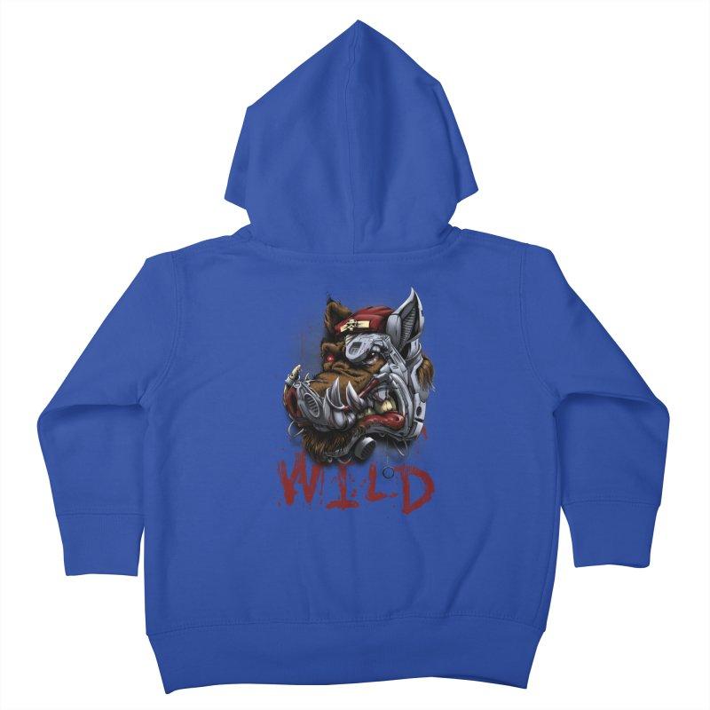 wild boar Kids Toddler Zip-Up Hoody by fishark's Artist Shop
