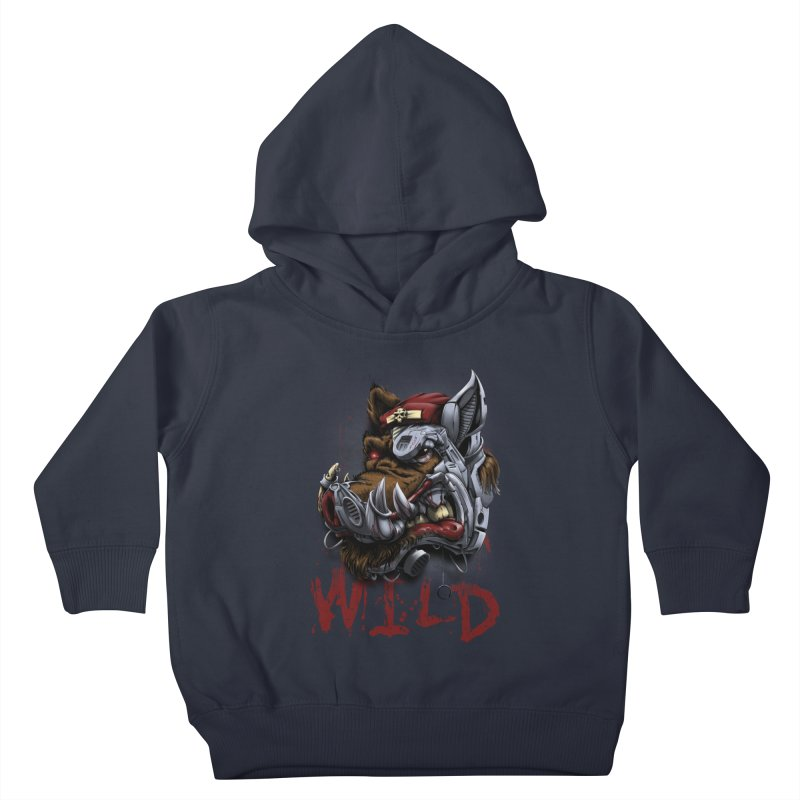 wild boar Kids Toddler Pullover Hoody by fishark's Artist Shop