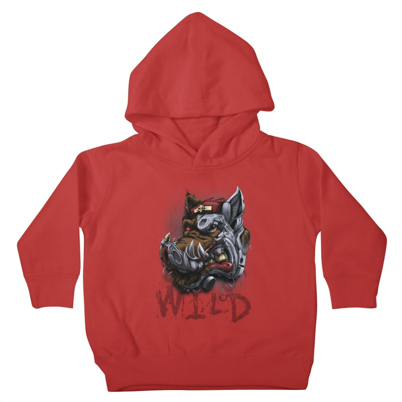 wild boar Kids Toddler Pullover Hoody by fishark's Artist Shop