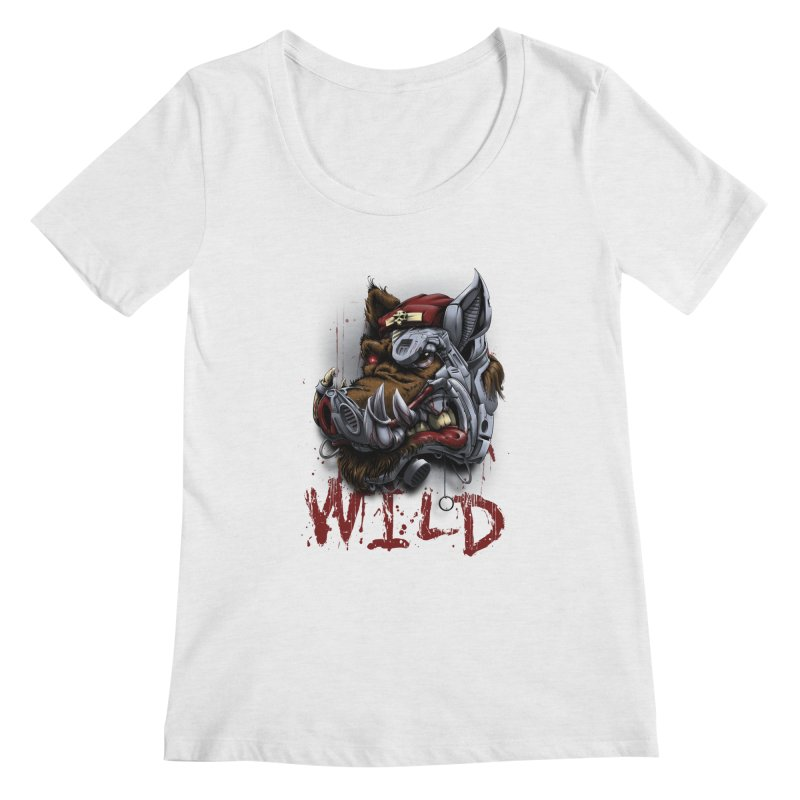 wild boar Women's Regular Scoop Neck by fishark's Artist Shop