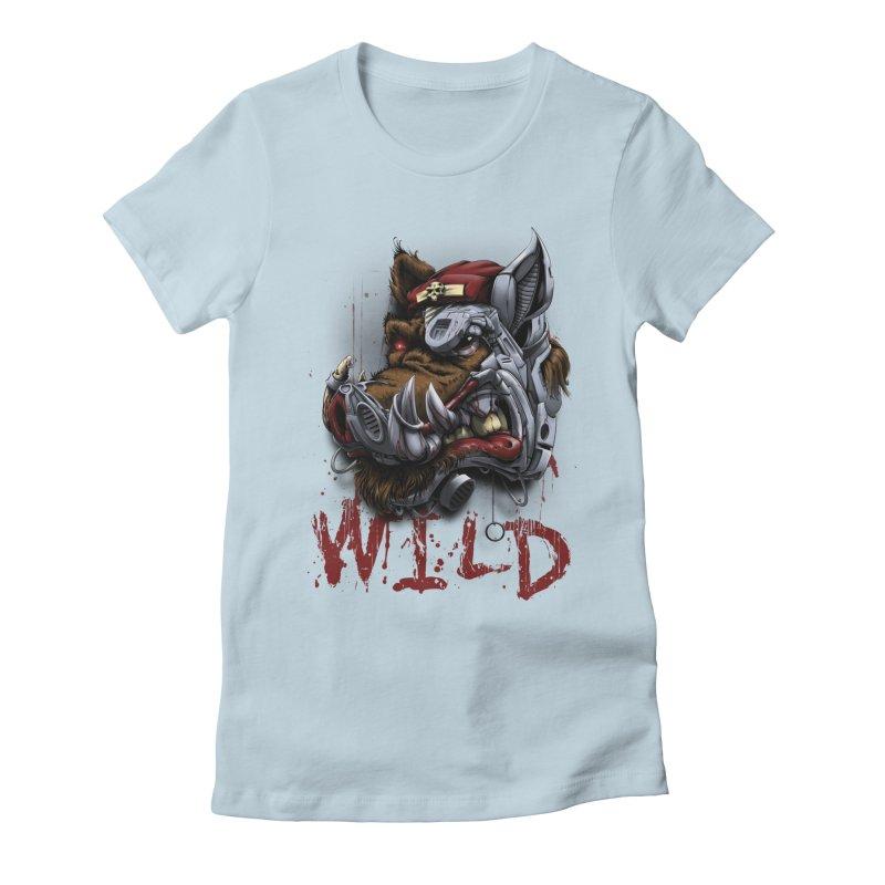 wild boar Women's T-Shirt by fishark's Artist Shop