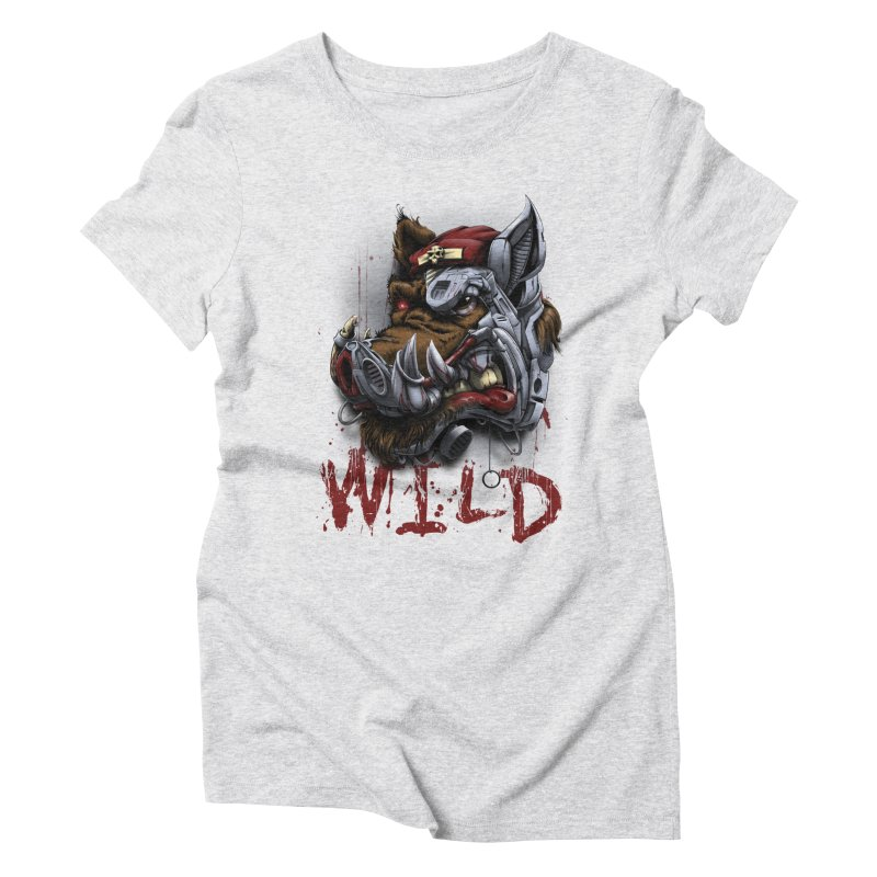 wild boar Women's Triblend T-Shirt by fishark's Artist Shop